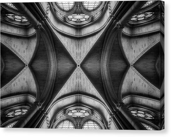 Church Canvas Print - Ornament by Oussama Mazouz