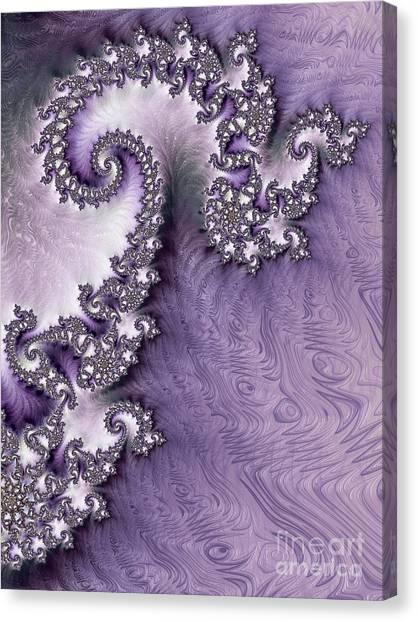 Ornate Lavender Fractal Abstract One  Canvas Print