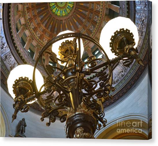 Ornate Lighting - Sprngfield Illinois Capitol Canvas Print