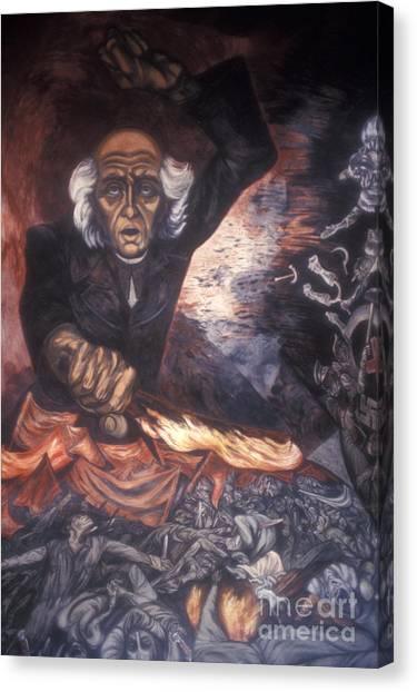 Orozco Mural Guadalajara Canvas Print