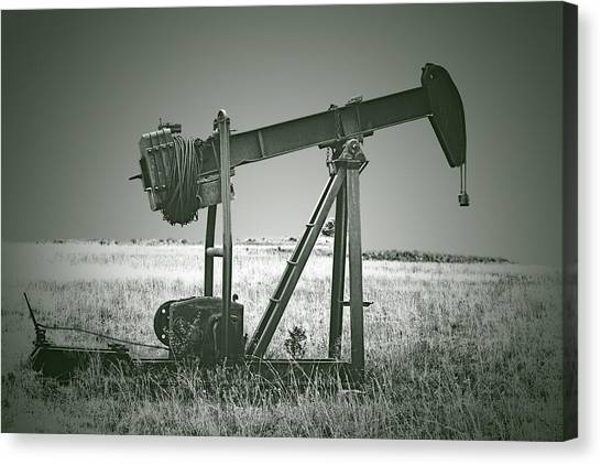 Orphans Of The Texas Oil Fields Canvas Print