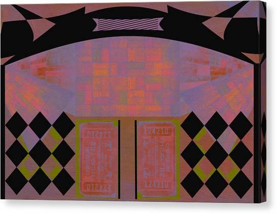 Frank Stella Canvas Print - Orpheum by Linda Dunn