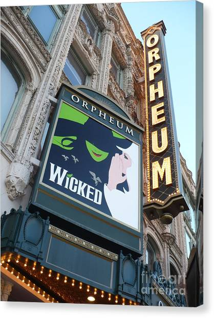 Orpheum Sign Canvas Print