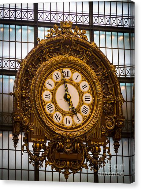 Europa Canvas Print - Orsay Clock by Inge Johnsson