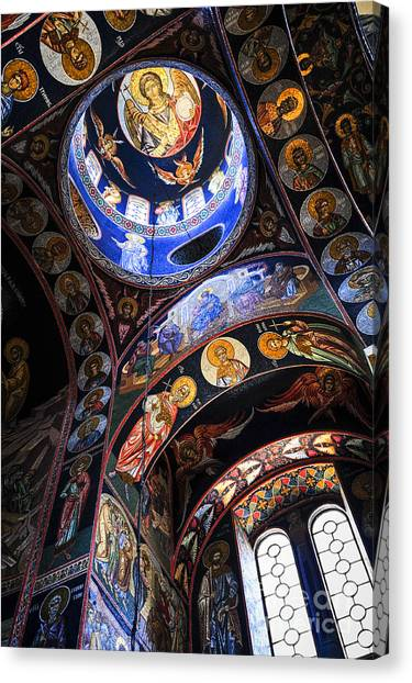 Orthodox Art Canvas Print - Orthodox Church Interior by Elena Elisseeva