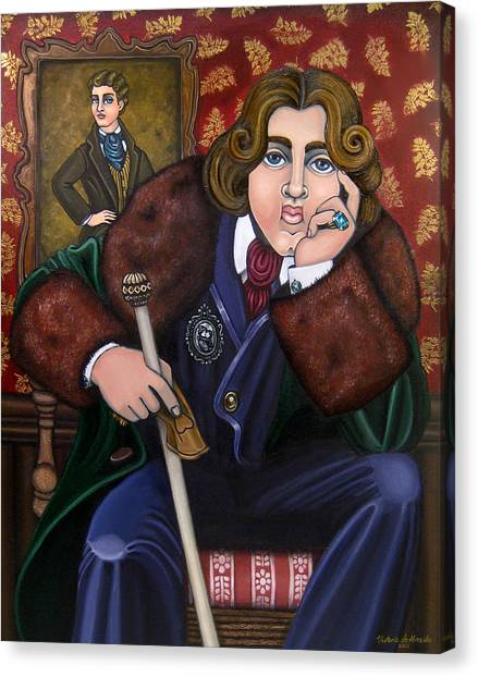 Oscar Wilde And The Picture Of Dorian Gray Canvas Print
