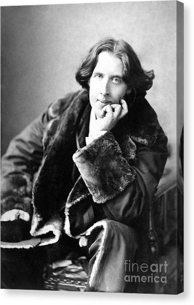 Chin Canvas Print - Oscar Wilde In His Favourite Coat 1882 by Napoleon Sarony
