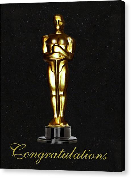 Oscars Congratulations Canvas Print