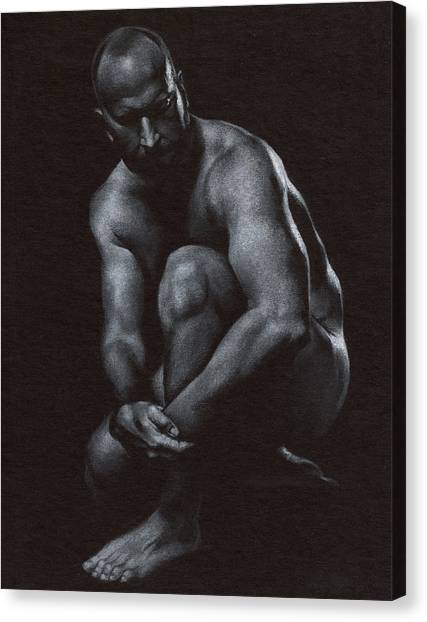 Nudes Canvas Print - Oscuro 10 by Chris Lopez