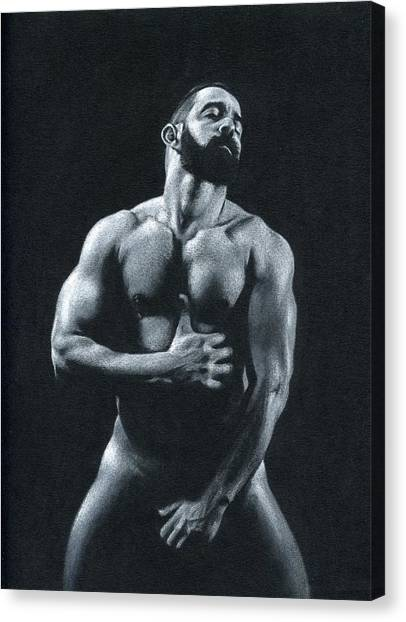 Male Nude Art Canvas Print - Oscuro 11 by Chris Lopez