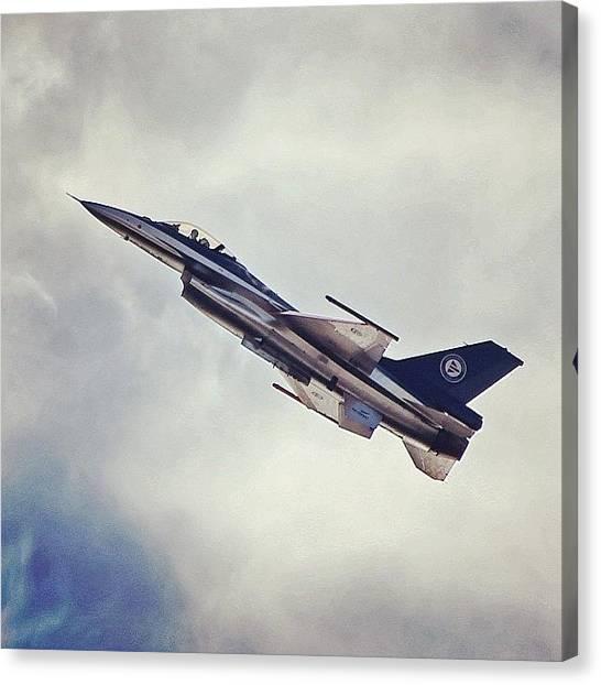 F16 Canvas Print - Oslo Flyshow I 2012 #nrksommer #ifarta by Kenneth Spaberg