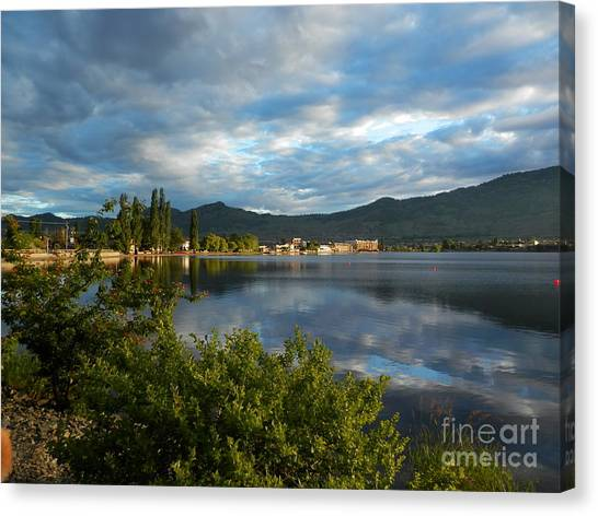 Osoyoos - Quiet Reflection Canvas Print by Margaret McDermott