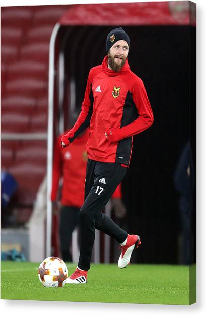 Ostersunds Fk Training Session And Press Conference - Emirates Stadium Canvas Print by Adam Davy - PA Images