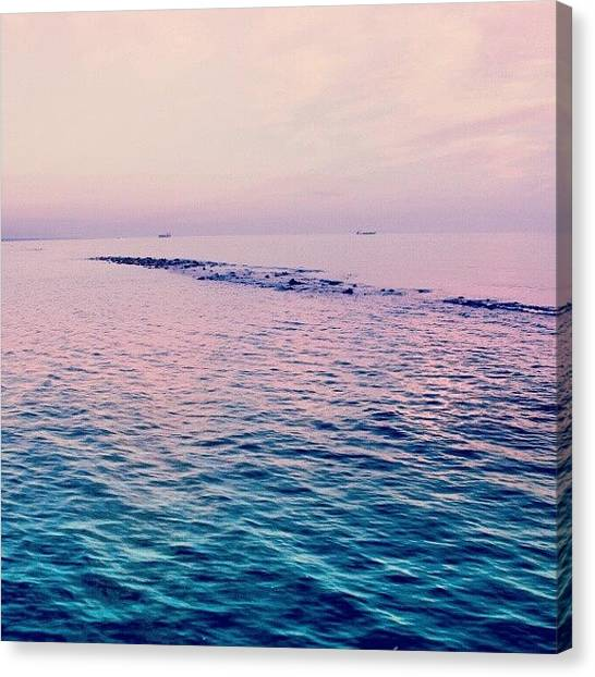 Food And Beverage Canvas Print - Ostia Sea by Emanuela Carratoni