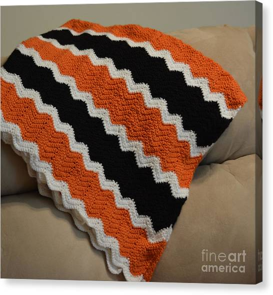 Oklahoma State University Canvas Print - Oklahoma State University Colors  by Ruth  Housley