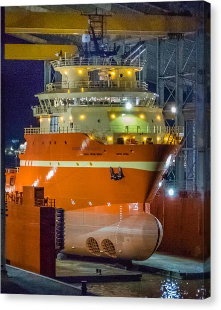 Osv In Port Fourchon Drydock Canvas Print