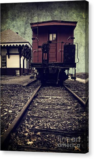 Caboose Canvas Print - Other Side Of The Tracks by Edward Fielding