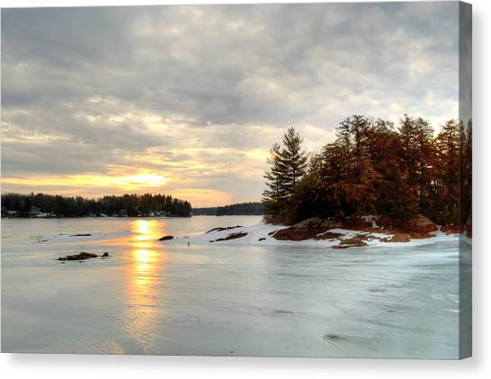 Otis Reservoir Sunrise No. 2 Canvas Print