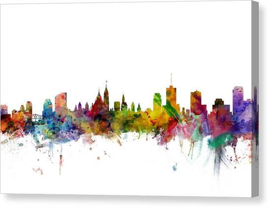 Ottawa Canvas Print - Ottawa Canada Skyline by Michael Tompsett