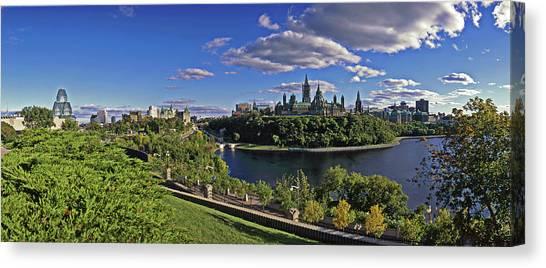 Parliament Hill Canvas Print - Ottawa, Ontario, Canada by Hans-peter Merten