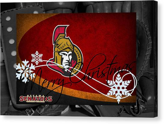 Ottawa Senators Canvas Print - Ottawa Senators Christmas by Joe Hamilton