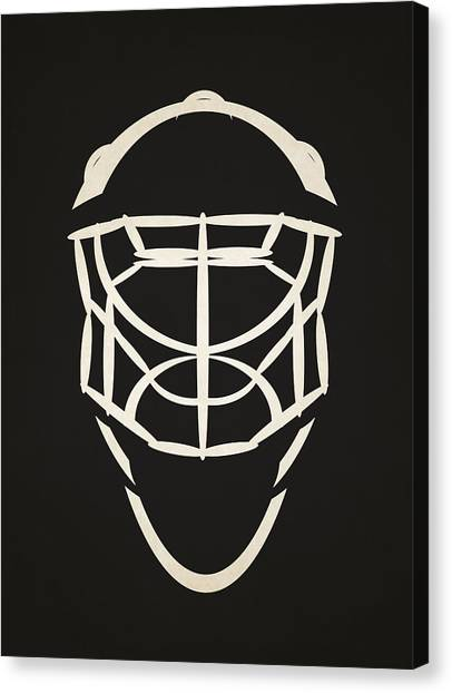 Ottawa Senators Canvas Print - Ottawa Senators Goalie Mask by Joe Hamilton