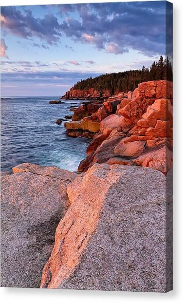 Otter Cliffs At First Light Canvas Print