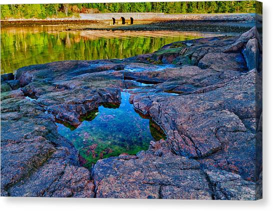 Canvas Print featuring the photograph Otter Cove Bridge And Tide Pool by Jeff Sinon