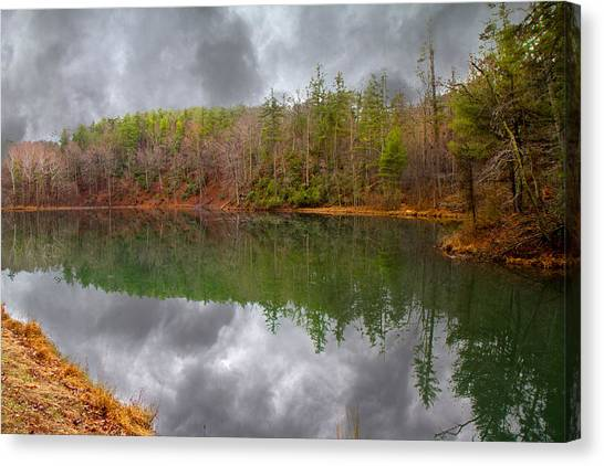 Otters Canvas Print - Otter Lake Reflections by Betsy Knapp