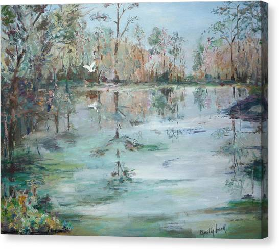Otter Springs Canvas Print by Dorothy Herron
