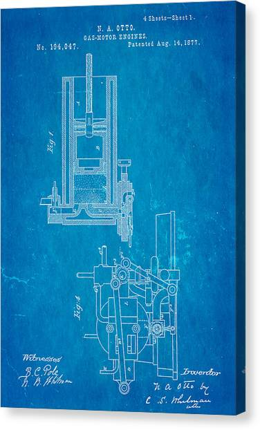 Car blueprint canvas prints page 2 of 13 pixels car blueprint canvas print otto gas motor engine patent art 1877 blueprint by ian monk malvernweather Image collections