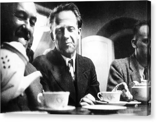 Conference Usa Canvas Print - Otto Stern And Werner Heisenberg by Paul Ehrenfest, Jr., Courtesy Aip Emilio Segre Visual Archives, Weisskopf Collection