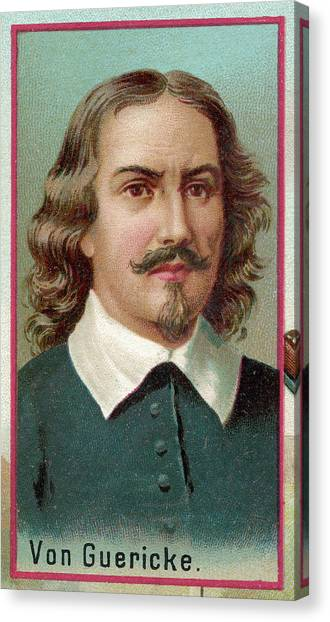 Otto Von Guericke  German Physicist Canvas Print by Mary Evans Picture Library
