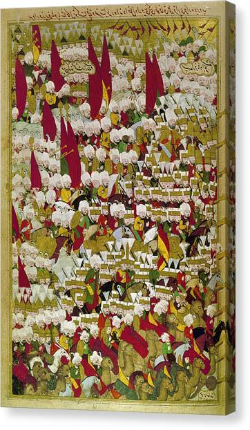 Carousel Collection Canvas Print - Ottoman Troops, 1526 by Granger