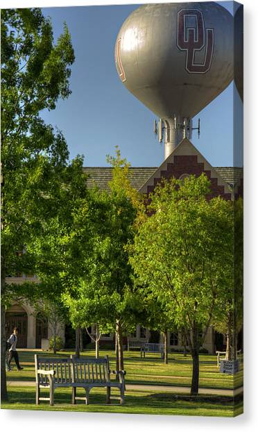 Oklahoma University Canvas Print - Ou Campus by Ricky Barnard