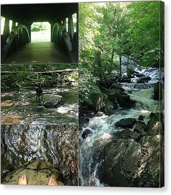 Pepsi Canvas Print - Our Day At Southford Falls by Kristine Dunn