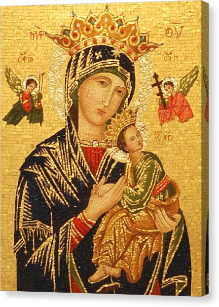 Lady Canvas Print - Our Lady Of Perpetual Help  by Philip Ralley
