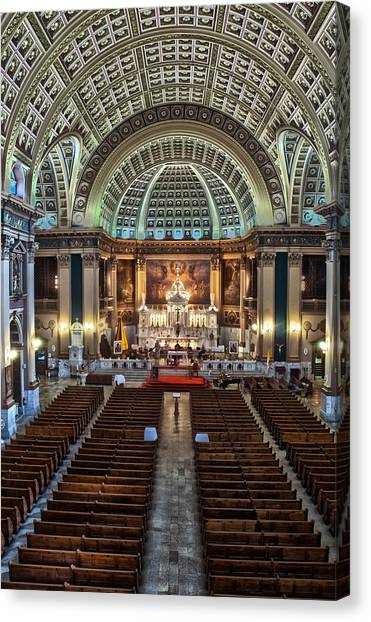 Our Lady Of Sorrows Basilica IIi Canvas Print by Roger Lapinski