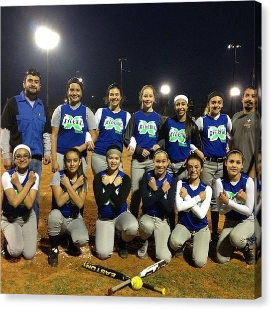 Softball Canvas Print - Our Last Game We Played #softball by Nina Garcia