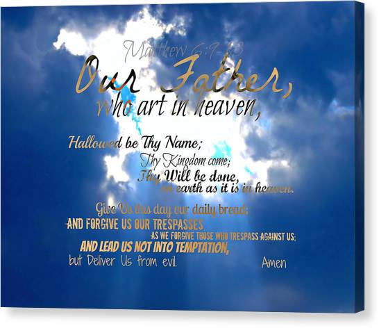 Our Lords Prayer Canvas Print