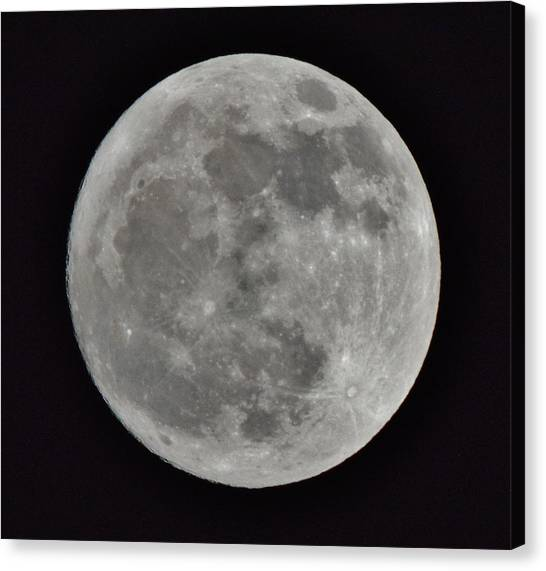 Our Moon Canvas Print by Thomas  MacPherson Jr
