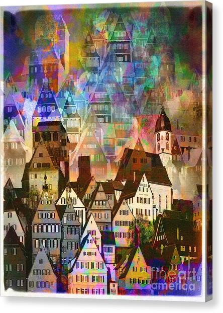 Our Old Town Canvas Print