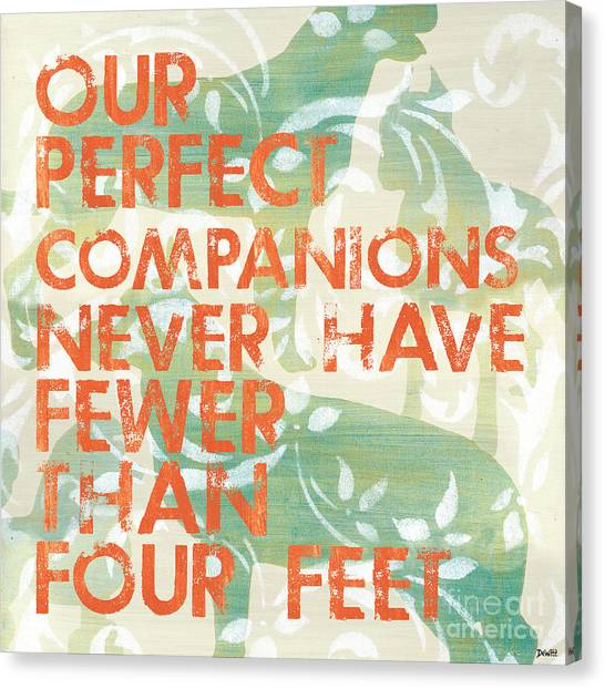 Pets Canvas Print - Our Perfect Companion by Debbie DeWitt