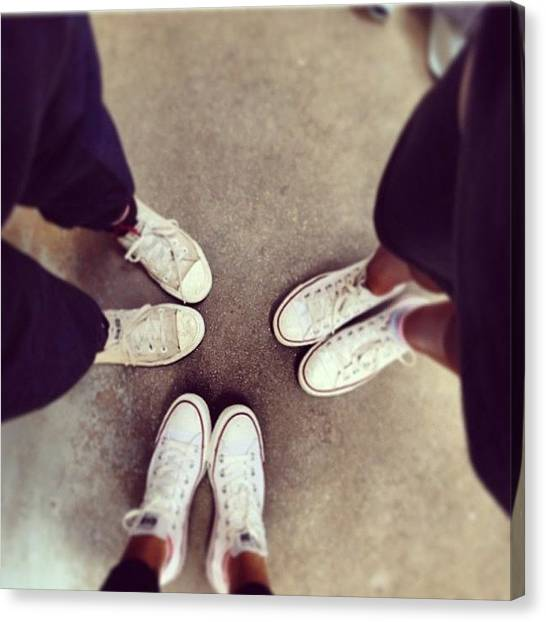 Jamaican Canvas Print - Our Shoes💕 #converse #gym #girls by Mae Simms