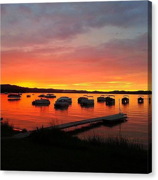 Lake Michigan Canvas Print - Our Sunset Last Night.  by Jill Tuinier