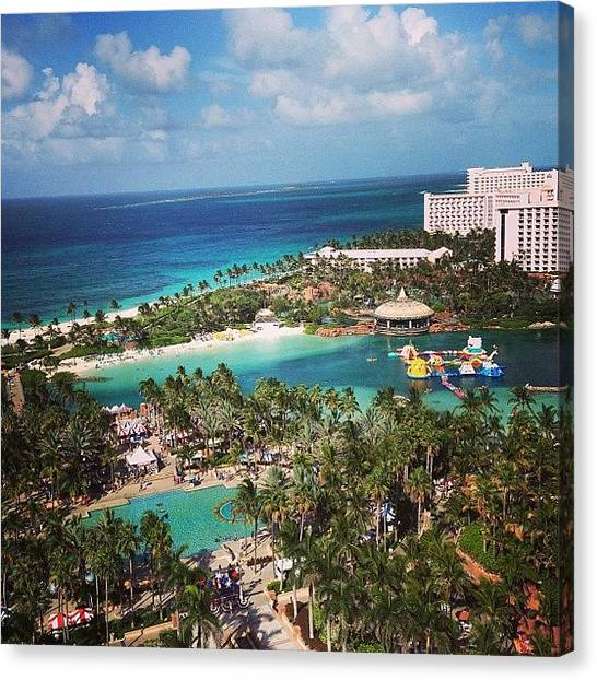 Bahamas Canvas Print - Our View 😍#atlantis #bahamas by Robyn Noel