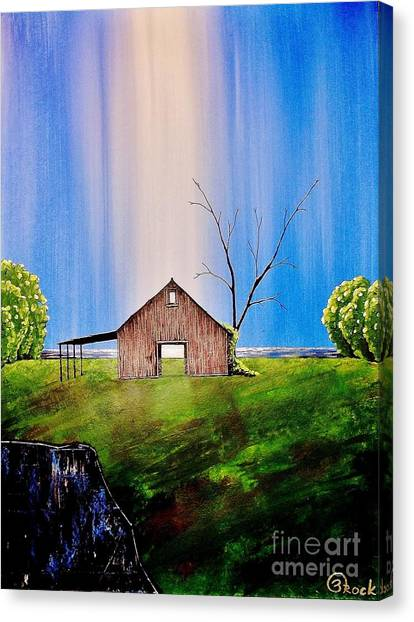 Out At The Farm Canvas Print