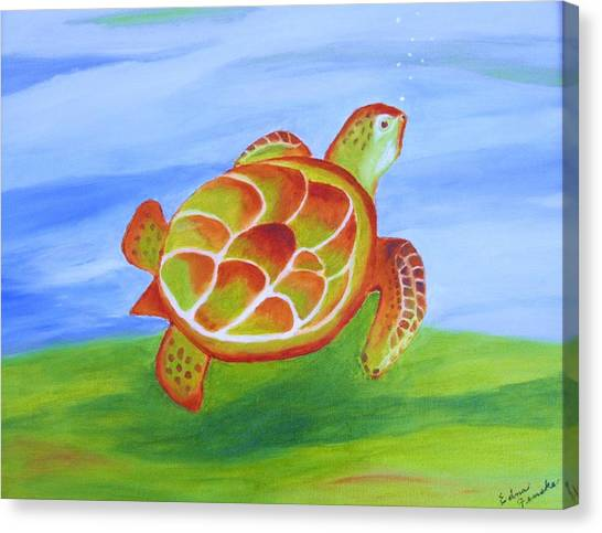 Out For A Swim Canvas Print by Edna Fenske