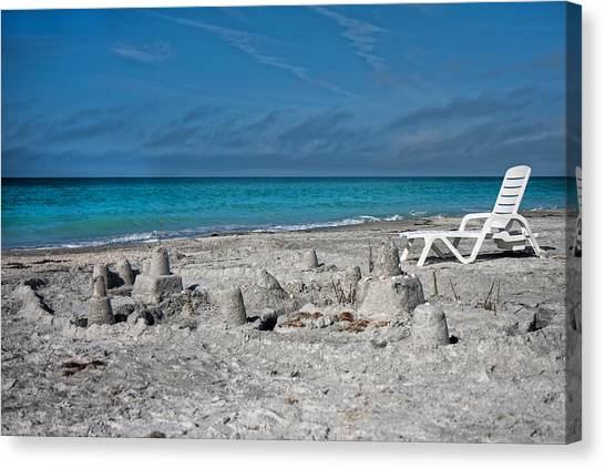 Sand Castles Canvas Print - Out For Lunch by Betsy Knapp