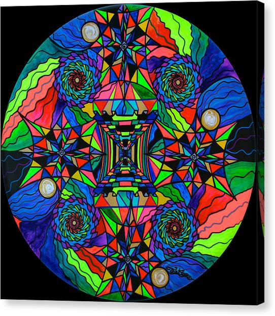 Sacred Canvas Print - Out Of Body Activation Grid by Teal Eye Print Store